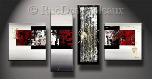 tableau peinture rectangulaire. Black Bedroom Furniture Sets. Home Design Ideas